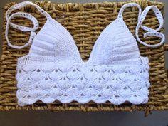 Inspiration - Crochet Lace Crochet Top ~~ Katia Ribeiro Acessórios: Cropped top mais inspirações