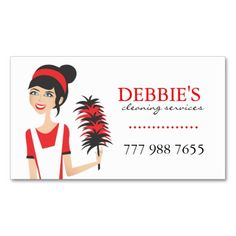 Maid Service Business Cards   Business, Maid services and Cards