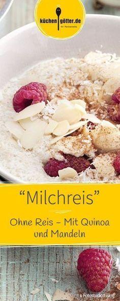 Milchreis im neuen Gewand: In diesem Rezept spielt Quinoa die Hauptrolle. Ein he… Rice pudding in a new guise: Quinoa plays the main role in this recipe. A wonderfully creamy and fruity power-low-carb breakfast Low Carb Breakfast, Vegan Breakfast Recipes, Paleo Recipes, Low Carb Recipes, Flour Recipes, Avocado Recipes, Breakfast Ideas, Dinner Recipes, Desayuno Paleo