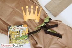 Make a last minute Halloween costume with an old pillowcase paper bag princess Halloween costumes made from PILLOWCASES! (the possibilities are endless!) Make a last minute Halloween costume wi Book Character Costumes, World Book Day Costumes, Book Week Costume, Paper Bag Princess Costume, Princess Costumes, Last Minute Halloween Costumes, Easy Costumes, Costume Ideas, Diy Paper Bag