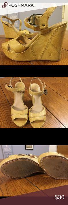 FRYE  Wedge  Sandals Very cute ! Comfy !!! Summer Ready !!! Frye Shoes Wedges
