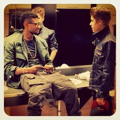 Justin and his mentor, Usher