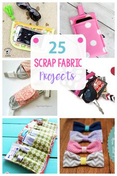 25 Fun Ways to Use Your Fabric Scraps-These scrap fabric projects are super easy sewing ideas that will help you use up all those little pieces of leftover fabric. #sew #sewing #pattern #easysewing