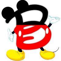 Original alfabeto inspirado en Mickey Mouse B.