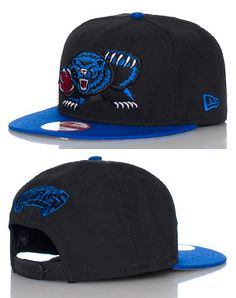 NEW ERA Basketball snapback cap Adjustable strap on back of hat for ultimate comfort Embroidered Vancouver Grizzlies team logo on front