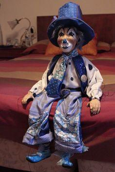 marionette Payaso marioneta puppet ooak artdoll títere