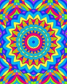 Don't Eat the Paste: Mandala design to color 12-04-11