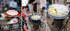 Fresh steamed buns, big and small!   Xizhou town, Dali, China