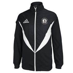 adidas Brooklyn Nets Resonate Full Zip Jacket - Black/White - $53.99