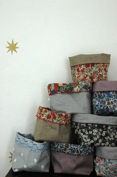 How to make fabric storage bins by Canal Blog