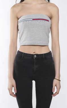 4ee81965568 ALL CLOTHING. Vintage ShopsTommy HilfigerVintage Stores. Vintage Re-Work Tommy  Hilfiger Bandeau