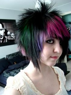 Short emo hairstyle
