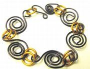 Parawire Purple and Amber Bracelet...is as easy as following these steps!