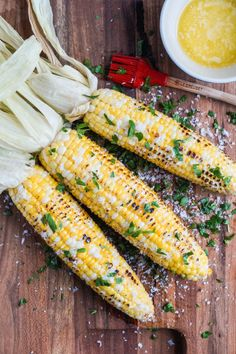 Parmesan Garlic Grilled Corn