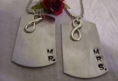 Matching necklaces say Mr and Mrs Wedding by glamgirlspretties Wedding Gifts For Bride And Groom, Mr And Mrs Wedding, Wedding Gifts For Couples, Unique Wedding Gifts, Wedding Groom, Plan Your Wedding, Bride Gifts, Groom Gifts, Unique Gifts