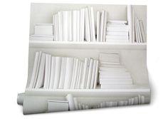 Effet trompe-l'oeil garanti avec ce papier peint BIBLIOTHEQUE BLANCHE ! Superbe…