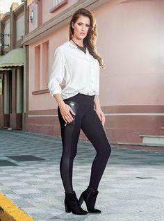 Calça Legging Montaria Casual Moda  Feminina  Rosa Goiaba