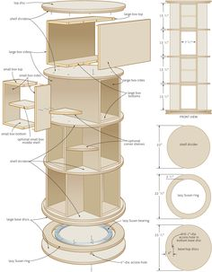 lazy susan bookshelf | Turn in order: rotating bookcase – Canadian Home Workshop
