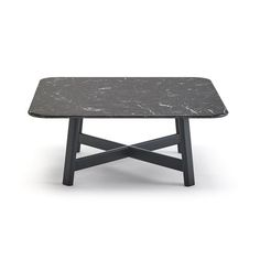 D-100 TABLE MARBLE TOP LACQUED BOTTOM