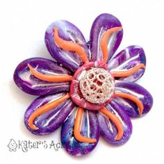 Fantasy Flower in Polymer Clay by KatersAcres