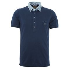 Mens smart T-Whiskey Denim Polo Shirt in NAVY from cool designer clothing brand Diesel.This stylish Mens Diesel Polo Shirt is the perfect wear with anything staple for your wardrobe this season. Featuring a classic five button placket leading to a traditional point down collar, short sleeves with ribbed cuffs, and on trend contrasting point down faded denim collar with trendy outer stitching detail. The signature Diesel logo is attached to the front left chest adding that classic designer…