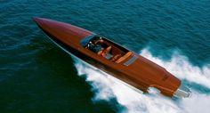 Mahogany speed boat
