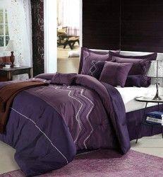 shop for 12pc Hori Purple/Plum Luxury on beddingonlinestore.us