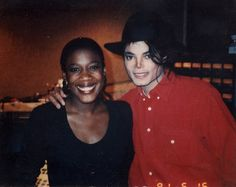 Mj and Singer Chaka Khan. Beginning of the 90's.