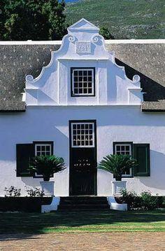 Franschhoek Gabled Cape Dutch Homesteads Cape Dutch, Dutch House, Garden Walls, Dutch Colonial, Homesteads, Elements Of Design, Facades, Dream Homes, Holland