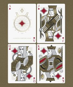 Omnia Oscura Playing Cards by Thirdway Industries: Diamonds | more here: http://playingcardcollector.net/2015/06/02/kickstarter-digest-1-new-playing-card-projects/