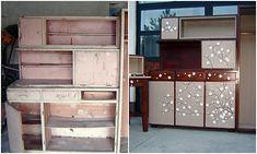 Egy romos bútor megmentésének szép története.  Domokosné Bartyik Judit lépésről lépésre elmeséli, hogyan adott új külsőt és egyben új életet egy már kidobásra szánt régi bútordarabnak. Az eredmény tényleg Furniture Makeover, Furniture Decor, Chalk Paint Furniture, Wood Creations, Furniture Restoration, Hacks Diy, Vintage Decor, Liquor Cabinet, Storage