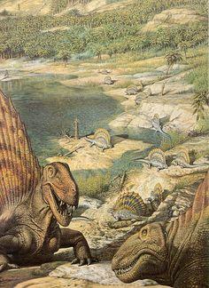 "My favorite"" dinosaur"" Love in the Time of Chasmosaurs: Vintage Dinosaur Art: De Oerwereld van de Dinosauriërs - Part 4 | John Sibbick"