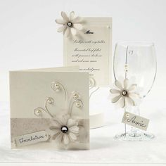 Cream Cards with Vellum Paper Flowers Wedding Stationary, Wedding Invitations, Valentine Day Cards, Valentines, Parchment Cards, Vellum Paper, Wedding Glasses, Paper Flowers Diy, Card Tags