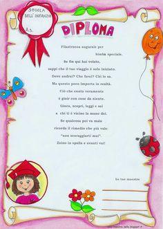 maestra Nella: per i bimbi della mia sezione... Reggio Children, Diy And Crafts, Crafts For Kids, Preschool Graduation, School Decorations, School Gifts, Cute Pins, School Projects, School Design