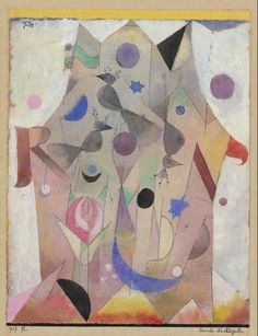 Paul Klee, Persian Nightingales, 1917. Gouache and watercolor.