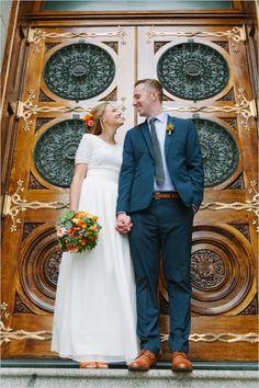 salt lake city temple doors #saltlakecity #groomstyle #weddingchicks http://www.weddingchicks.com/2014/01/08/natural-and-simple-wedding/