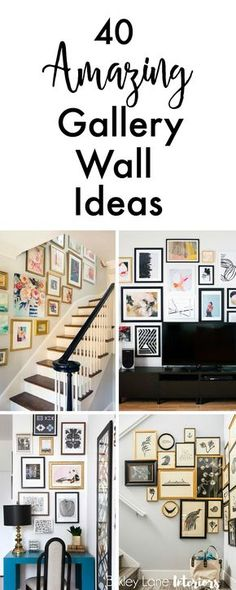 If you're looking for gallery wall ideas and inspiration, search no more! I've collected 40 amazing gallery ideas that will definitely get you excited! Gallery wall, gallery wall ideas, gallery wall layout, gallery wall living room, how to do a gallery wa