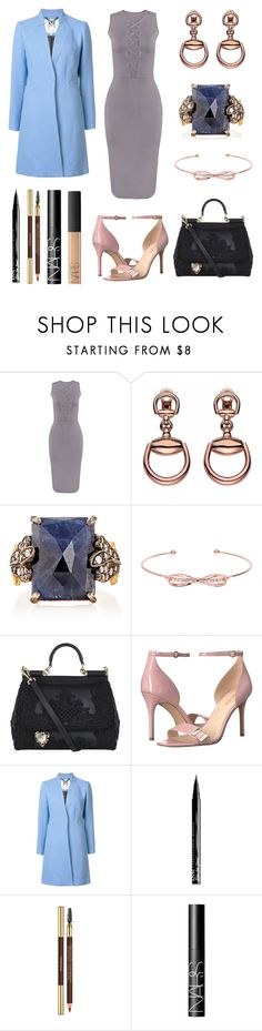 """Just One More Day"" by massielcristina ❤ liked on Polyvore featuring Gucci, Cathy Waterman, Ted Baker, Dolce&Gabbana, Nine West, Milly, NYX, Yves Saint Laurent and NARS Cosmetics"