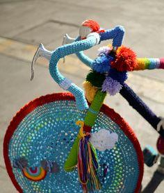 Bicicleta de una guerrera del ganchillo