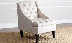 Groupon - Abbyson Living Kristen Tufted Swoop Armchair. Groupon deal price: $329.99