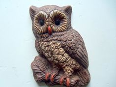 Vintage Hoot Owl Wall Hanging 1970s by WylieOwlVintage on Etsy, $8.00