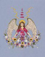 Angel of Abundance   OOAK Pressed Flower by fairyblossomdesigns