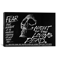 iCanvasART Night of The Living Dead Vintage Movie Poster by Unknown Artist Canvas Art Print, 40 by 26-Inch - Canvas size:40×26 ; 0.75 Inch Deep Professionally Hand Stretched Anti-Fade Ultrachrome Inks  - read more . . . Re-pin