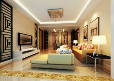 Painting Exhibition interior design rendering Night | 3D house ...