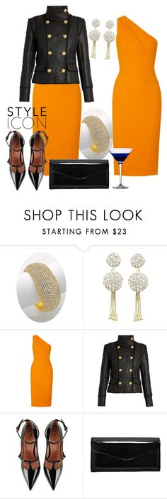 """""""Elegant Autumn"""" by shoppe23 ❤ liked on Polyvore featuring Narciso Rodriguez, Balmain, RED Valentino, dress, partystyle and Shoppe23"""