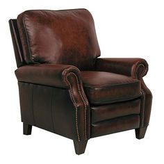 Bring timeless charm to your living area with this captivating Briarwood II leather recliner, featuring sophisticated nail head accents. Crafted with a sturdy hardwood frame, this classic recliner is