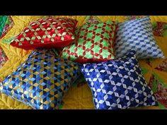 Ribbon Art, Fabric Ribbon, Ribbon Crafts, Felt Crafts, Weaving Patterns, Crochet Patterns, Patchwork Quilt, Pillow Crafts, Bamboo Art