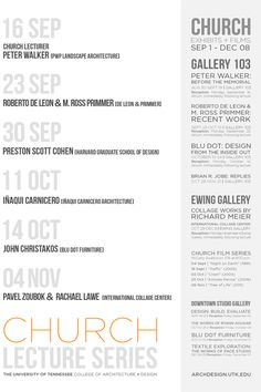 Get Lectured: University of Tennessee - Knoxville Fall '13   Archinect