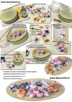 TUTORIAL per la realizzazione della scatola con le nuove carte DECO 3D. www.deco-chic.it store online