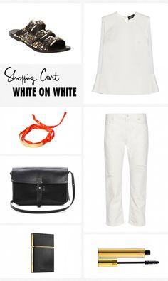 White on White Shopping Cart